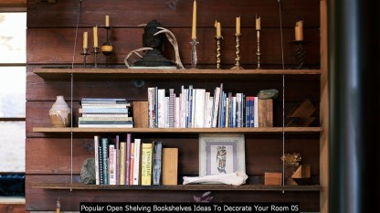 Popular Open Shelving Bookshelves Ideas To Decorate Your Room 05