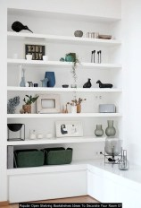 Popular Open Shelving Bookshelves Ideas To Decorate Your Room 07