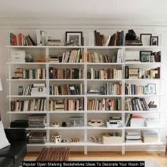 Popular Open Shelving Bookshelves Ideas To Decorate Your Room 09