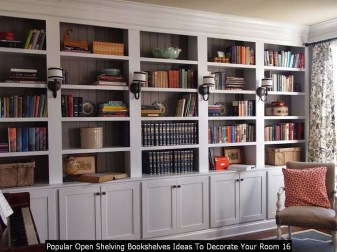 Popular Open Shelving Bookshelves Ideas To Decorate Your Room 16