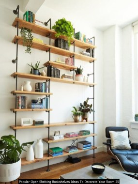 Popular Open Shelving Bookshelves Ideas To Decorate Your Room 25