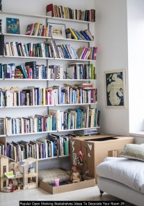 Popular Open Shelving Bookshelves Ideas To Decorate Your Room 29