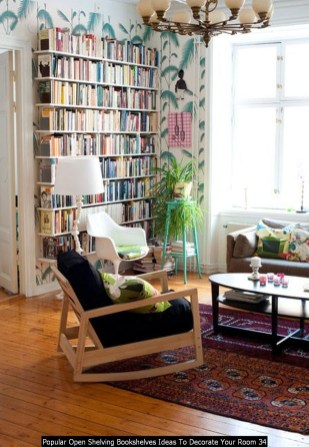 Popular Open Shelving Bookshelves Ideas To Decorate Your Room 34
