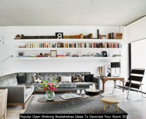 Popular Open Shelving Bookshelves Ideas To Decorate Your Room 35