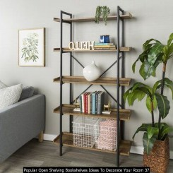 Popular Open Shelving Bookshelves Ideas To Decorate Your Room 37