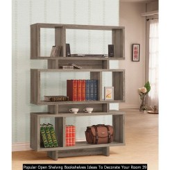 Popular Open Shelving Bookshelves Ideas To Decorate Your Room 39