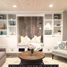 Top Neutral Living Room Cabinets Storage Ideas That You Will Love 12