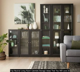 Top Neutral Living Room Cabinets Storage Ideas That You Will Love 25