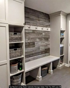 Top Neutral Living Room Cabinets Storage Ideas That You Will Love 38