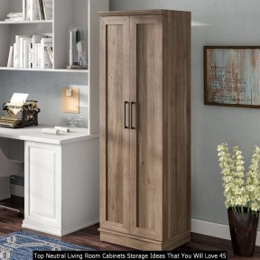 Top Neutral Living Room Cabinets Storage Ideas That You Will Love 45