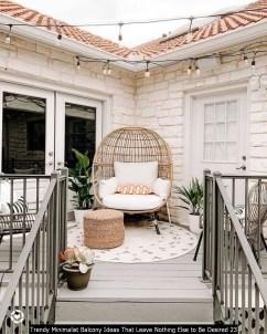 Trendy Minimalist Balcony Ideas That Leave Nothing Else To Be Desired 23
