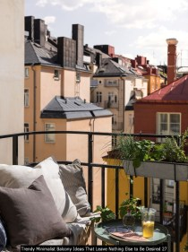 Trendy Minimalist Balcony Ideas That Leave Nothing Else To Be Desired 27