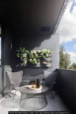 Trendy Minimalist Balcony Ideas That Leave Nothing Else To Be Desired 32