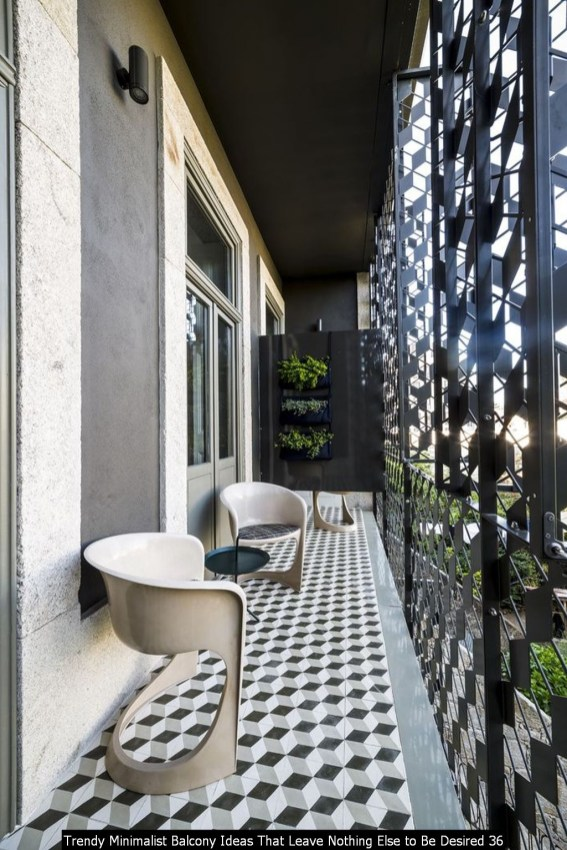 Trendy Minimalist Balcony Ideas That Leave Nothing Else To Be Desired 36