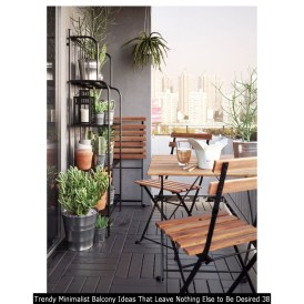 Trendy Minimalist Balcony Ideas That Leave Nothing Else To Be Desired 38