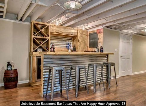 Unbelievable Basement Bar Ideas That Are Happy Hour Approved 13