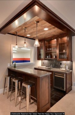 Unbelievable Basement Bar Ideas That Are Happy Hour Approved 34