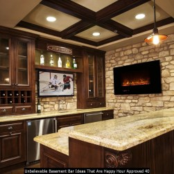 Unbelievable Basement Bar Ideas That Are Happy Hour Approved 40