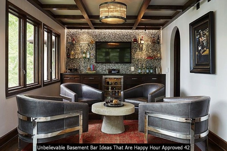 Unbelievable Basement Bar Ideas That Are Happy Hour Approved 42