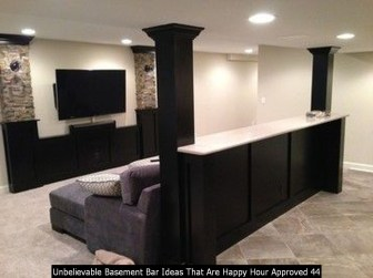 Unbelievable Basement Bar Ideas That Are Happy Hour Approved 44
