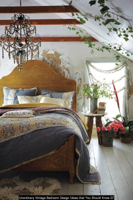 Unordinary Vintage Bedroom Design Ideas That You Should Know 07