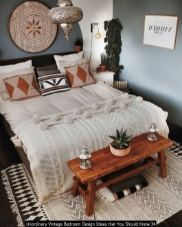 Unordinary Vintage Bedroom Design Ideas That You Should Know 34