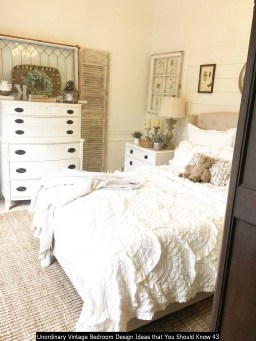 Unordinary Vintage Bedroom Design Ideas That You Should Know 43