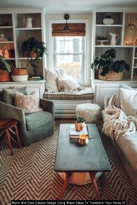 Warm And Cozy Interior Design Living Room Ideas To Transform Your Home 21