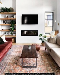 Warm And Cozy Interior Design Living Room Ideas To Transform Your Home 47
