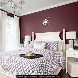Astonishing Red Bedroom Decorating Ideas For You 01