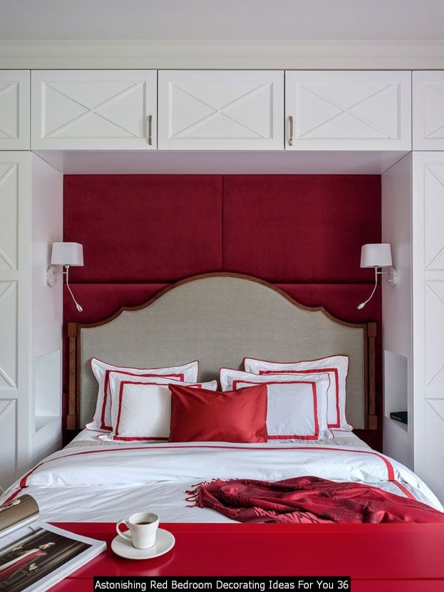 Astonishing Red Bedroom Decorating Ideas For You 36