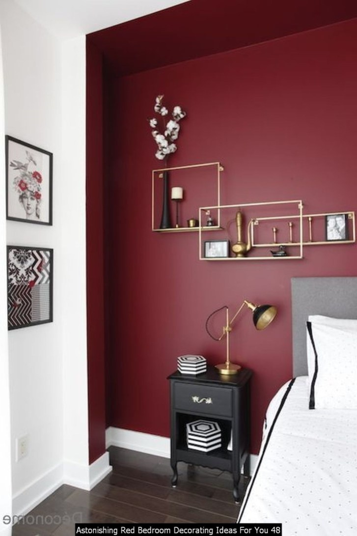 Astonishing Red Bedroom Decorating Ideas For You 48