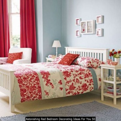 Astonishing Red Bedroom Decorating Ideas For You 50