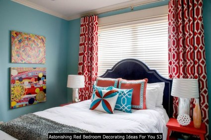 Astonishing Red Bedroom Decorating Ideas For You 53