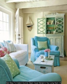 Best Ways To Create A Summer Beach House Retreat In Your Living Room 14