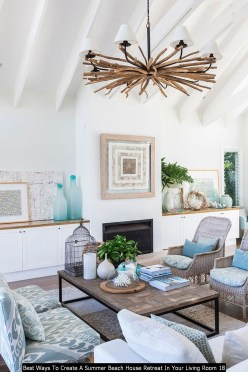 Best Ways To Create A Summer Beach House Retreat In Your Living Room 18