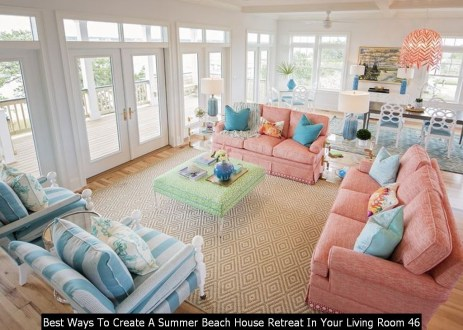 Best Ways To Create A Summer Beach House Retreat In Your Living Room 46