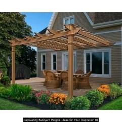 Captivating Backyard Pergola Ideas For Your Inspiration 01