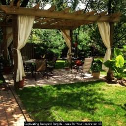 Captivating Backyard Pergola Ideas For Your Inspiration 13
