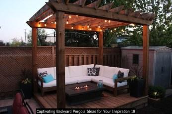 Captivating Backyard Pergola Ideas For Your Inspiration 18