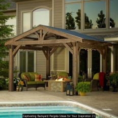 Captivating Backyard Pergola Ideas For Your Inspiration 21