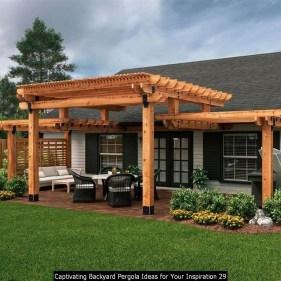 Captivating Backyard Pergola Ideas For Your Inspiration 29