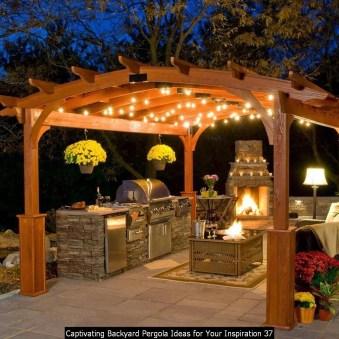Captivating Backyard Pergola Ideas For Your Inspiration 37