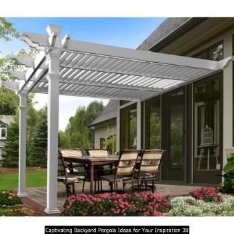 Captivating Backyard Pergola Ideas For Your Inspiration 38