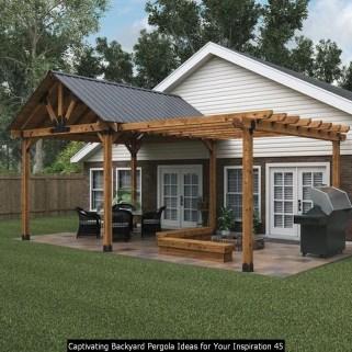 Captivating Backyard Pergola Ideas For Your Inspiration 45