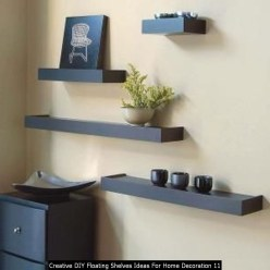 Creative DIY Floating Shelves Ideas For Home Decoration 11