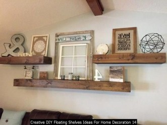 Creative DIY Floating Shelves Ideas For Home Decoration 14