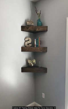 Creative DIY Floating Shelves Ideas For Home Decoration 16