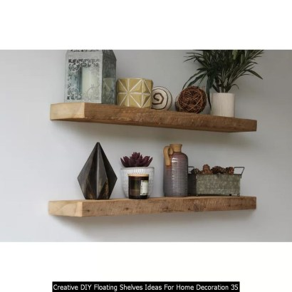 Creative DIY Floating Shelves Ideas For Home Decoration 35