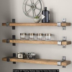 Creative DIY Floating Shelves Ideas For Home Decoration 40